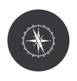 modern gray circle icon vector image