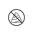 no shit line icon dont feces prohibition sign vector image
