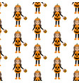 pumpkin halloween costume pattern vector image