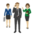 Team of confident young business people vector image