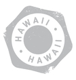 Hawaii stamp rubber grunge vector image
