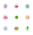Sewing supplies icons set pop-art style vector image