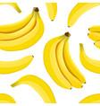 banana seamless pattern ripe bananas isolated on vector image