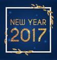 new year 2017 greeting card typography postcard vector image