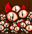 monster halloween eyes vector image