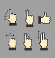 Guide with basic gestures vector