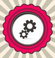 Cog - Gears Icon on Retro Paper Background vector image vector image