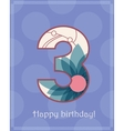 Happy birthday three card vector image vector image