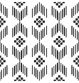 Black and white ethnic geometric pattern vector image vector image