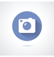 Camera icon flat style with long shadow vector image