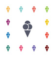 ice cream flat icons set vector image