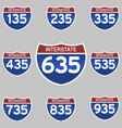 INTERSTATE SIGNS 135-935 vector image