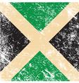 Jamaica retro flag vector image