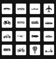 transportation icons set squares vector image
