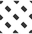 audio cassette icon in black style isolated on vector image