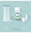 Bathroom Cover vector image