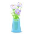 vector illustration flowers in vase vector image vector image