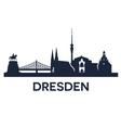 Dresden City Skyline vector image vector image