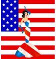 patriotic woman vector image