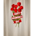 Roses on a wooden background EPS 10 vector image vector image