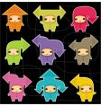 cute arrow kids vector image vector image