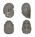 Black Fingerprints Set vector image