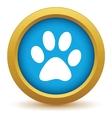 Gold animal icon vector image