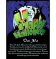 Halloween Poster with the text Happy Halloween vector image