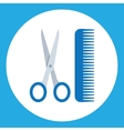 scissors and combs Hairdressers salon vector image