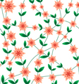 Seamless pattern flower peach vector image
