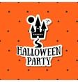 Halloween Sticker Ghost House vector image