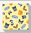 Animal seamless pattern collection with dog 2 vector image