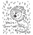 you are great cute lion cartoon vector image