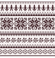 Nordic seamless winter knitted brown pattern vector image vector image