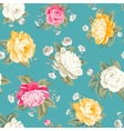 Seamless peony pattern vector image vector image
