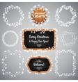 White Christmas Lights on Blackboard vector image