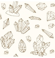 seamless pattern geometric crystals gem and vector image vector image