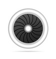 airplane engine single vector image