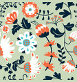 beauty flowers seamless pattern vector image