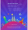 enjoy the tour - flat design travel composition vector image
