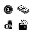 finances simple related icons vector image