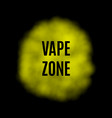 yellow smoke for use on dark background vector image