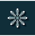 merry christmas snowflake icon vector image