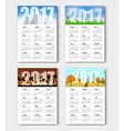 Set calendars for seasons of the year 2017 vector image
