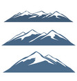 a set of mountain ranges vector image vector image