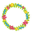 colorful floral circle with red and yellow vector image vector image