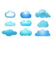 Cloud set vector image vector image
