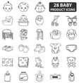 Baby Product Icons vector image vector image