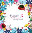 Flowers invitation vector image