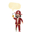 cartoon pirate captain with speech bubble vector image